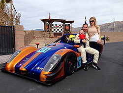 Jeffrey, Jessica and Liana at Spring Mountain Motor Resort