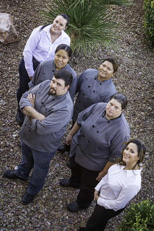 16 kitchen staff